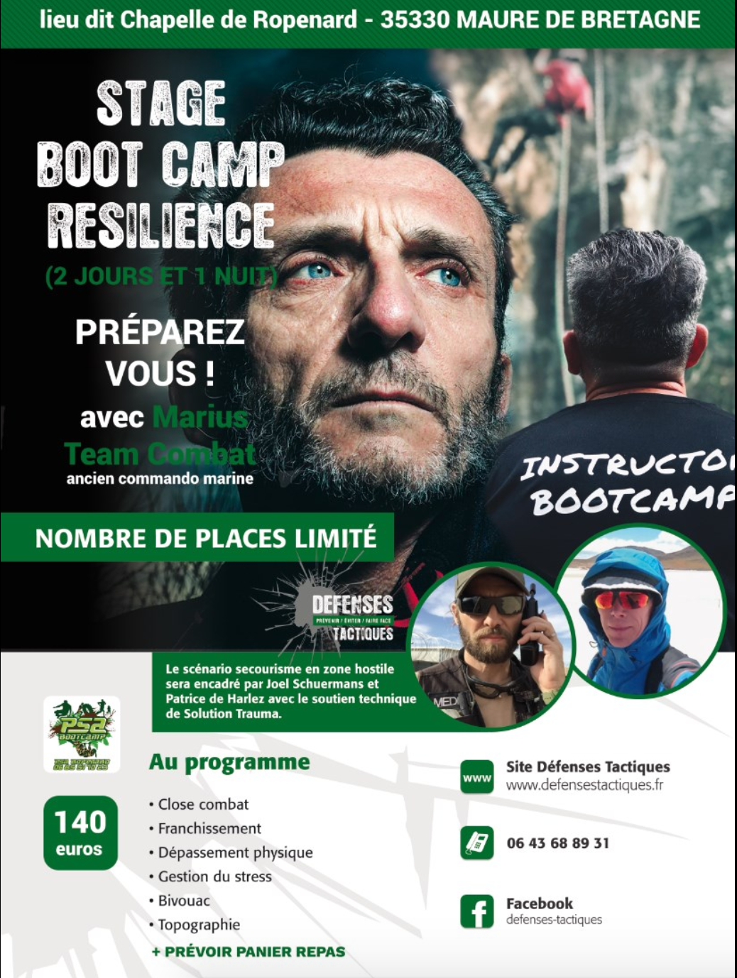 STAGE BOOTCAMP RESILIENCE ! INEDIT AVEC MARIUS ET CELOPS